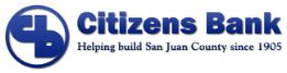 Citizens Bank Logo Helping build San Juan County since 1905